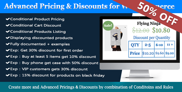Best WooCommerce Discount Plugins - WooCommerce Dynamic Pricing and Discounts Plugin