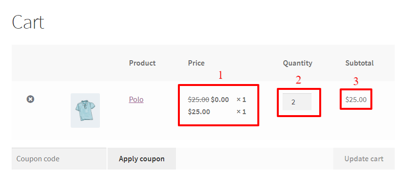 BOGO Deal in the cart