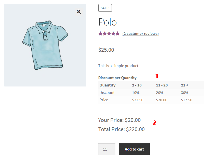 WooCommerce Bulk Discount Rule