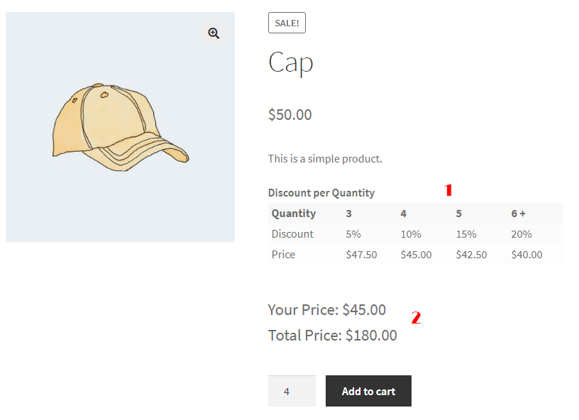WooCommerce Bulk Discount For A Product