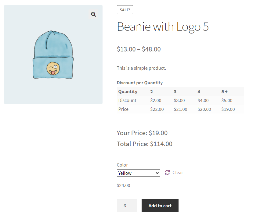WooCommerce Bulk Discount Rule For A Variation Product