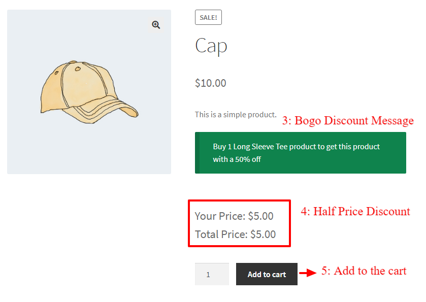 WooCommerce Buy One Get One Half Offer - Get Product in WooCommerce advanced coupons plugin