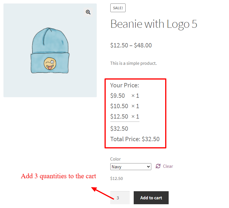 WooCommerce Tiered Pricing for Variation Product