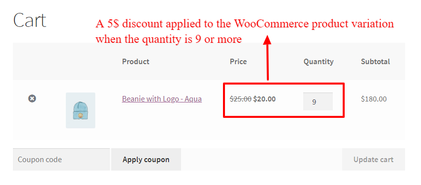 How to Create Discounts for Product Variations in WooCommerce - bulk discount