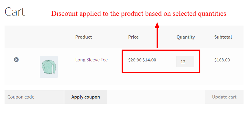 WooCommerce quantity based coupon