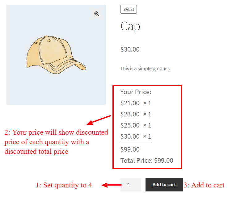 WooCommerce tiered dynamic pricing