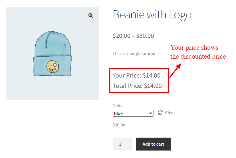 WooCommerce percentage discount for a specific product attribute