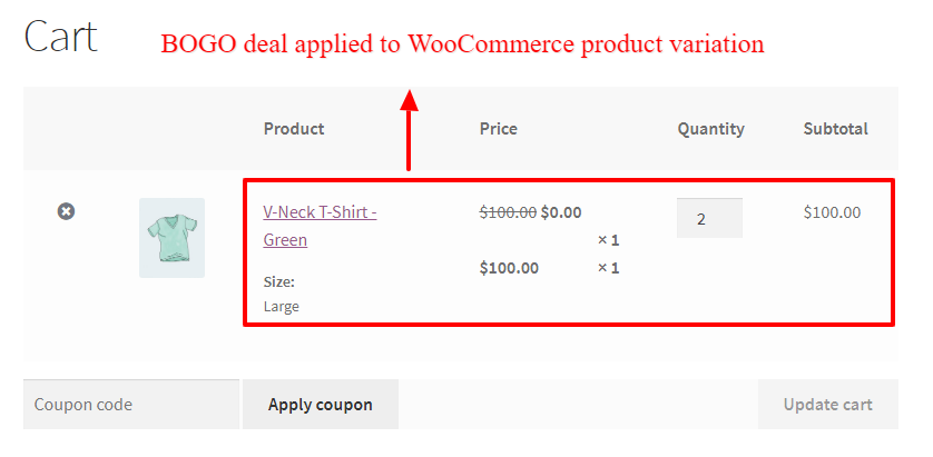 How to Create Discounts for Product Variations in WooCommerce - BOGO discount