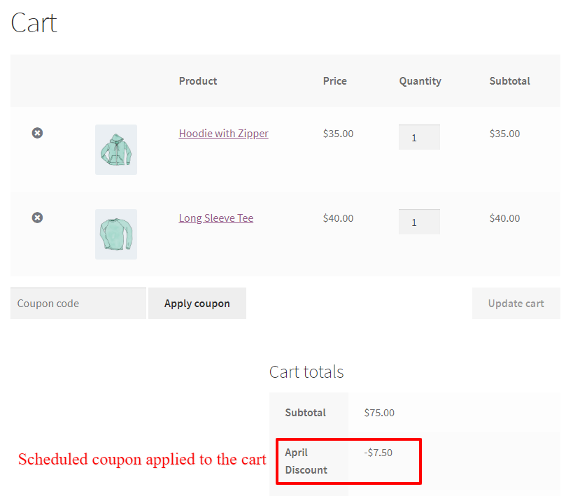 WooCommerce scheduled smart coupon