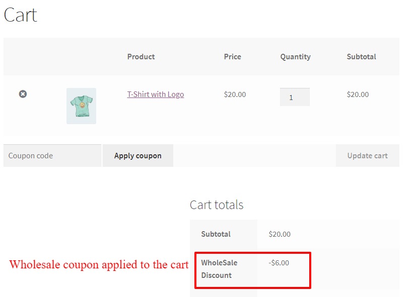 wholesale smart coupon in WooCommerce