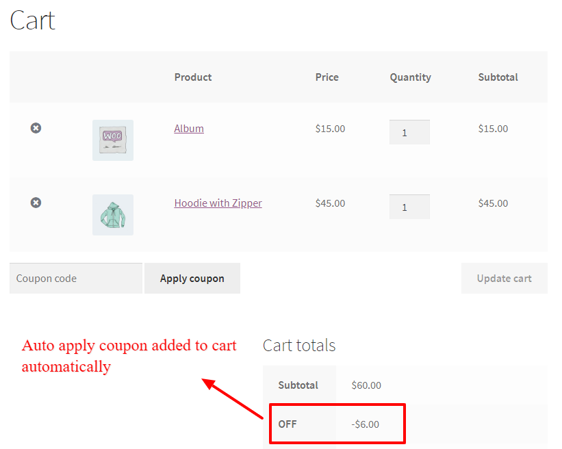 WooCommerce Dynamic Pricing and Discounts Free Plugin auto apply coupon