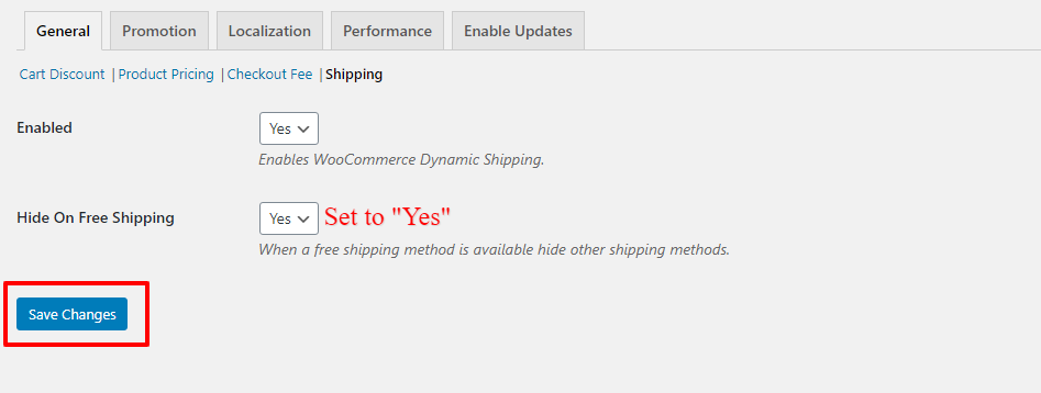 hide other shipping methods when free shipping available in WooCommerce