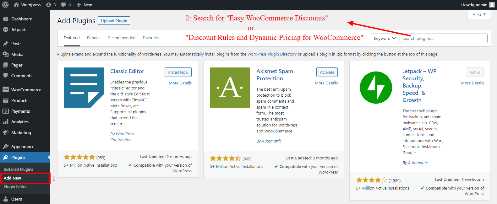 Searching WooCommerce Dynamic Pricing and Discounts plugin
