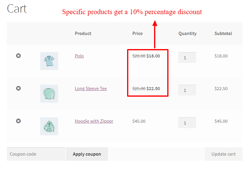 Applying percentage discount on products in WooCommerce