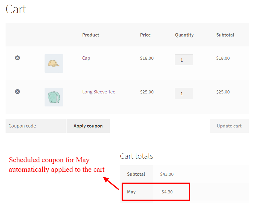 WooCommerce Dynamic Pricing and Discounts Free Plugin scheduled coupon