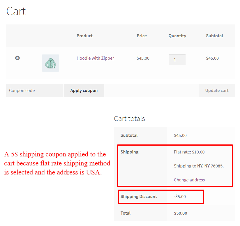 coupon for specific shipping methods
